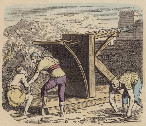 Roman ballista. Illustration from Bilder aus dem Alterthume (Braun & Schneider, Munich, 19th Century).