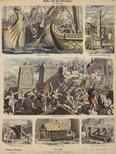 The Romans. Illustration from Bilder aus dem Alterthume (Braun & Schneider, Munich, 19th Century).