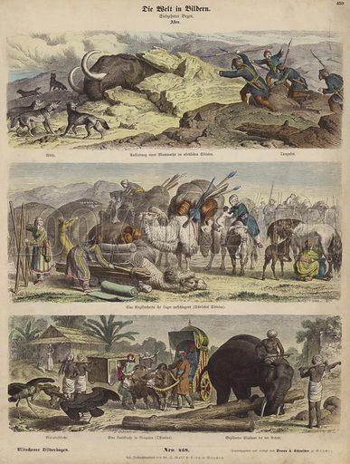 Asia. Illustration from Die Welt in Bildern (Braun & Schneider, Munich, 19th Century).