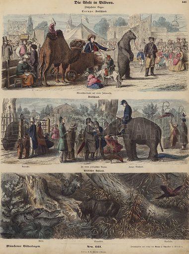 Europe. Illustration from Die Welt in Bildern (Braun & Schneider, Munich, 19th Century).