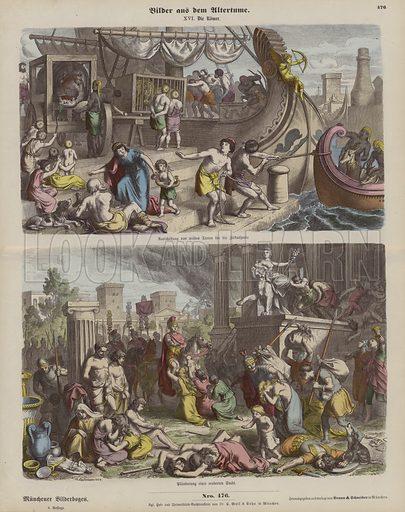 Ancient Rome. Illustration from Bilder aus dem Alterthume (Braun & Schneider, Munich, 19th Century).