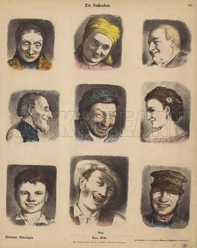 Laughing faces.