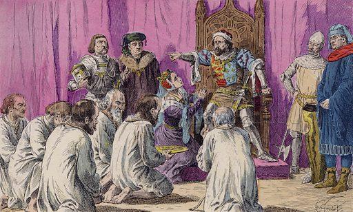 The Burghers of Calais, 1347. Illustration from Histoire de France (Theodore Lefevre et Cie, Paris, c1902).