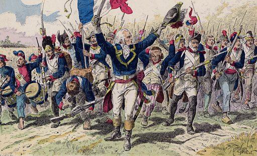 Battle of Valmy, 1792. Illustration from Histoire de France (Theodore Lefevre et Cie, Paris, c1902).