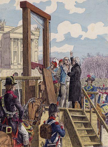 The execution of Louis XVI of France, 1793. Illustration from Histoire de France (Theodore Lefevre et Cie, Paris, c1902).