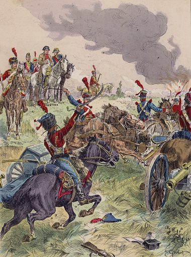 Battle of Wagram, 1809. Illustration from Histoire de France (Theodore Lefevre et Cie, Paris, c1902).