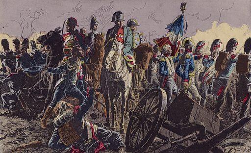 Battle of Waterloo, 1815. Illustration from Histoire de France (Theodore Lefevre et Cie, Paris, c1902).