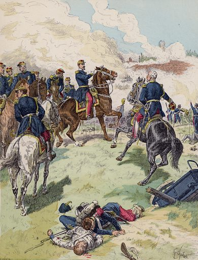 Battle of Solferino, 1859. Illustration from Histoire de France (Theodore Lefevre et Cie, Paris, c1902).