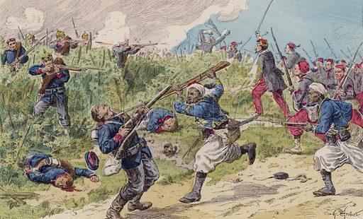 Battle of Woerth, Franco-Prussian War, 1870. Illustration from Histoire de France (Theodore Lefevre et Cie, Paris, c1902).