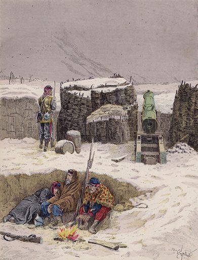 Siege of Paris, Franco-Prussian War, 1870–1871. Illustration from Histoire de France (Theodore Lefevre et Cie, Paris, c1902).
