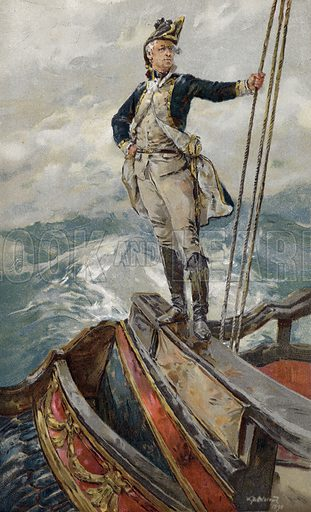 The Cruiser's Captain. Illustration from The Boy's Own Paper, c1890.