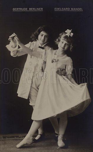 Gertrude Berliner and Edelgard Mandel, German actresses.
