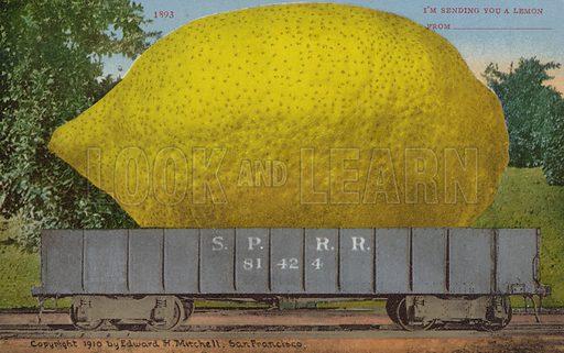 I'm sending you a lemon. American greetings card.