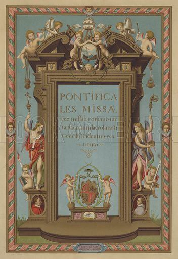 Title page of Missal Pontifical.