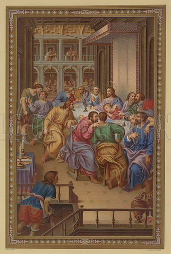 The Last Supper. Illustration from Missal Pontifical.
