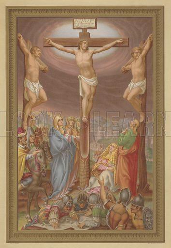 The Crucifixion. Illustration from Missal Pontifical.