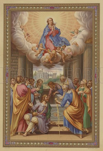 The Assumption of Mary. Illustration from Missal Pontifical.
