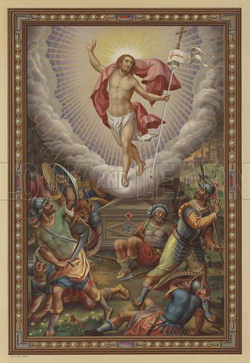 The Resurrection of Jesus. Illustration from Missal Pontifical.