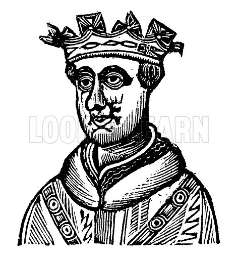 King Henry V. Illustration for HIstory of England by Dr Goldsmith et al (JS Pratt, 1843). Note: Image has been digitally enhanced to facilitate repro at large size.