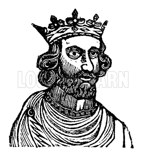 King Henry III. Illustration for HIstory of England by Dr Goldsmith et al (JS Pratt, 1843). Note: Image has been digitally enhanced to facilitate repro at large size.