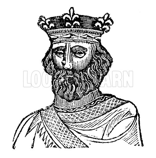 King Henry II. Illustration for HIstory of England by Dr Goldsmith et al (JS Pratt, 1843). Note: Image has been digitally enhanced to facilitate repro at large size.