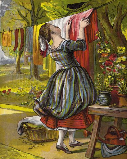 Sing A Song O' Sixpence. Illustration for Aunt Louisa's Keepsake (Frederick Warne, 1868). Printed in oil by Kronheim and Dalziels.