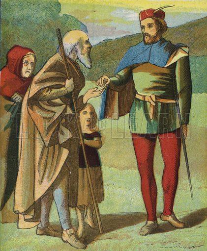 Robin Hood And His Merry Men. Illustration for Aunt Louisa's Keepsake (Frederick Warne, 1868). Printed in oil by Kronheim and Dalziels.