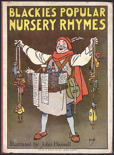 Cover illustration for Blackie's Popular Nursery Rhymes, c 1930.