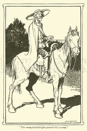 Illustration for The Adventures of Don Quixote of La Mancha by Miguel De Cervantes (Dent, 1902).