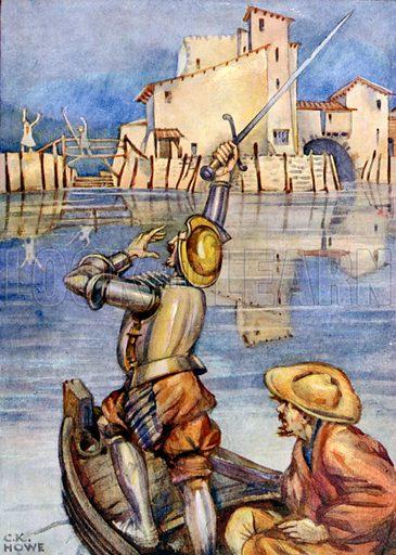 Illustration for Les Aventures de Don Quichotte (Nelson, c 1930).
