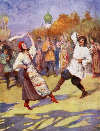 Russian Peasant Dance. Illustration for Days with the Great Composers (Hodder and Stoughton, c 1910).