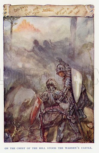 Illustration for Sir Knight of the Splendid Way by WE Cule (Religious Tract Society, c 1910).