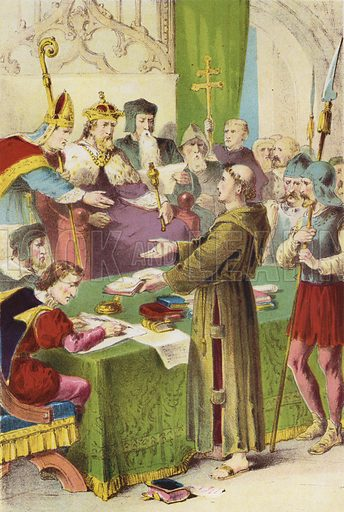 Martin Luther at the Diet Of Worms. Illustration for Foxe's Book of Martyrs (Adam, c 1870).