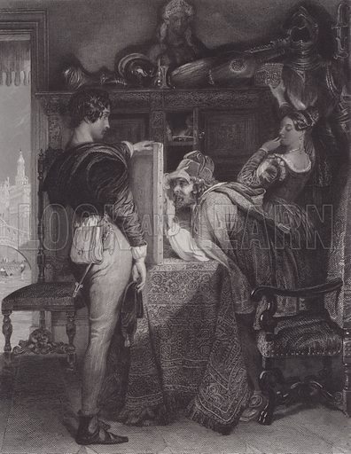 Salvator Rosa. Illustration for Pictures by Daniel Maclise (Virtue, c 1885).