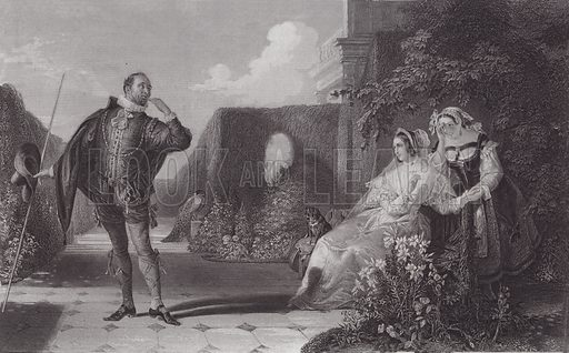 Malvolio, Twelfth Night. Illustration for Pictures by Daniel Maclise (Virtue, c 1885).