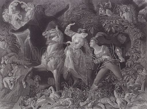 Undine. Illustration for Pictures by Daniel Maclise (Virtue, c 1885).