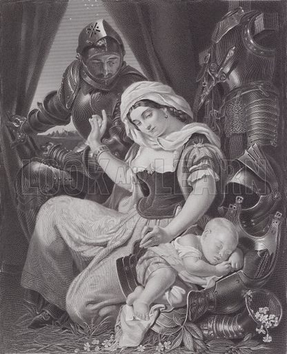 The Warrior's Cradle. Illustration for Pictures by Daniel Maclise (Virtue, c 1885).