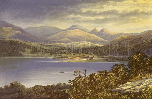 Windermere, Head of the Lake. Illustration for English Lake Scenery (John Walker, 1880).