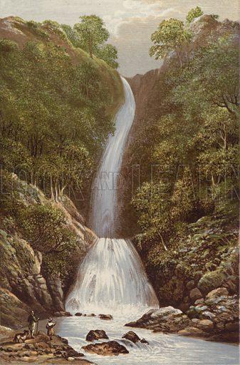 Scale Force. Illustration for English Lake Scenery (John Walker, 1880).