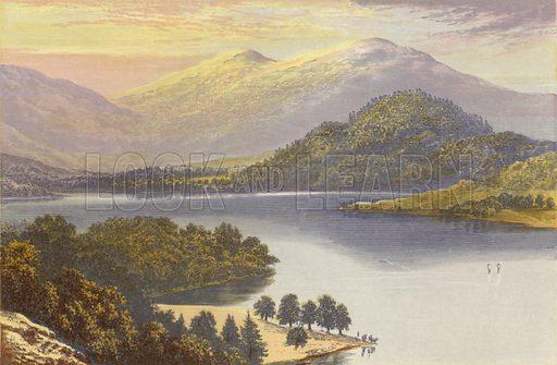 Ullswater. Illustration for English Lake Scenery (John Walker, 1880).