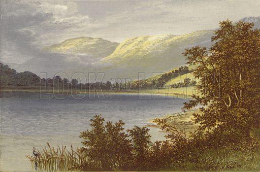 Brother's Water. Illustration for English Lake Scenery (John Walker, 1880).