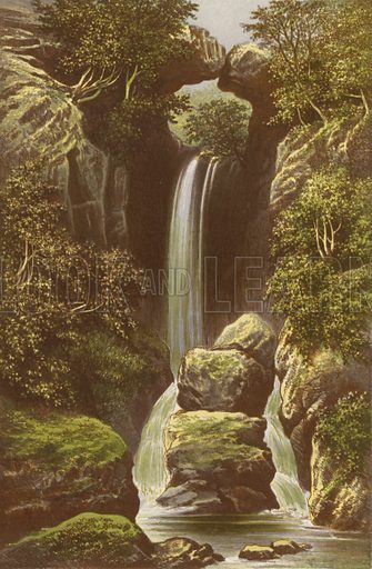 Dungeon Gill. Illustration for English Lake Scenery (John Walker, 1880).