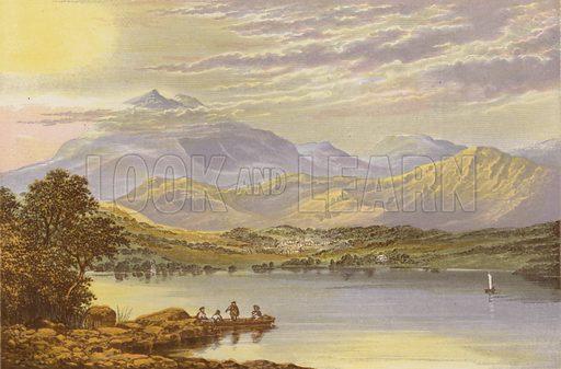 Coniston Lake. Illustration for English Lake Scenery (John Walker, 1880).