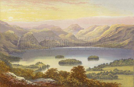 Derwentwater. Illustration for English Lake Scenery (John Walker, 1880).