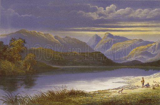 Elterwater. Illustration for English Lake Scenery (John Walker, 1880).