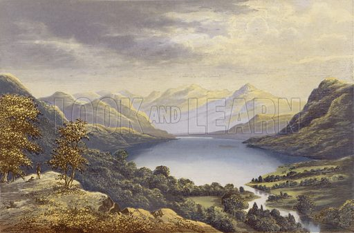 Crummock Water. Illustration for English Lake Scenery (John Walker, 1880).