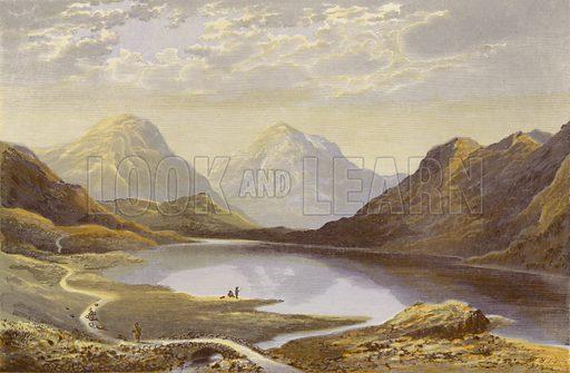 Wast Water. Illustration for English Lake Scenery (John Walker, 1880).