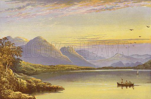 Bassenthwaite Lake. Illustration for English Lake Scenery (John Walker, 1880).