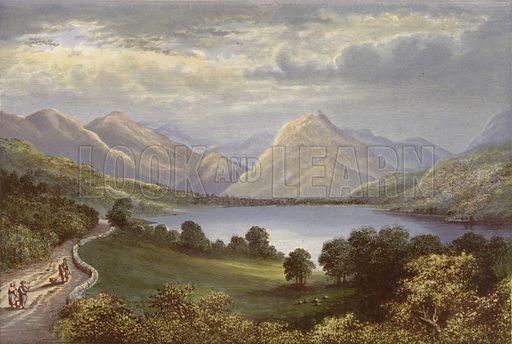 Lowes Water. Illustration for English Lake Scenery (John Walker, 1880).