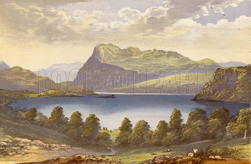 Ennerdale Water. Illustration for English Lake Scenery (John Walker, 1880).